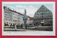 AK ZITTAU Neustadt um 1900 seltene Variante Herkulesbrunnen Pferdekutsche( 17793