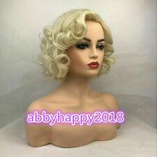 Marilyn Monroe Hermoso Pelo Corto Blonde rizado Pelucas Cosplay Pelucas Clásico