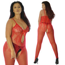UK Size12-28 Lace Lingerie Underwear Full Body Stocking Christmas Gift Plus