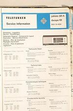 Service Plan für Telefunken jubilate 301 A / dacapo 101