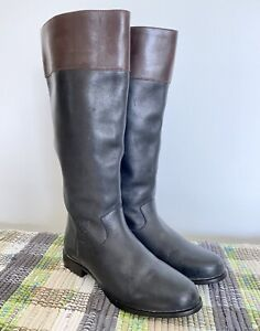 """Womans ARIAT black 8.5 M riding boots, 15"""" Tall, Leather Upper"""