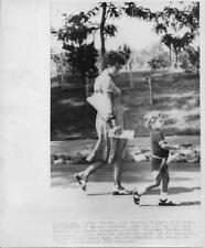 Margaret Trudeau and son Justin At Toronto Zoo 8X10 Vintage Still
