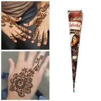3 Colors Natural Herbal Henna Cones Temporary Tattoo Body Art Paint Mehandi Ink