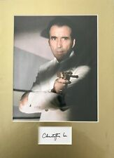Christopher Lee HAND SIGNED Man With The Golden Gun Photograph Mount BOND 007