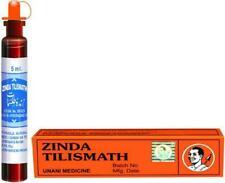 4 X Natural 100% Zinda Tilismath 5ml Headache Cough Cold herbal Ayurveda Eczema