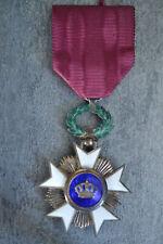 J) Superbe médaille ordre de la couronne Léopold  n°2 Royaume de Belgique medal