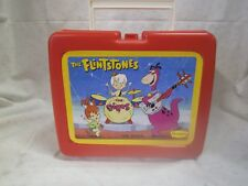 "Vintage Denny's Flintstones ""The Dinos"" Red Lunchbox"