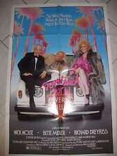 """DOWN AND OUT IN BEVERLY HILLS 1986 Original SS 27x41"""" US One Sheet Movie Poster"""