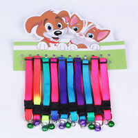 2 Pet Dog Puppy Cat Kitten Soft Glossy Reflective Collar Safety Buckle Wi