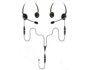 USB-A | Binaural Splitter Headset Training Bundle | 2 Users