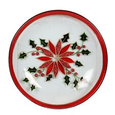 Village Candle 16cm Holly Floral Candle Plate