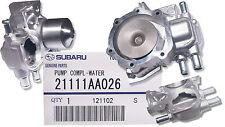 New Genuine Subaru Water Pump - OEM - 3 Hose Connection  21111-AA026