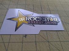Rockstar Energy 145 x 75mm Cromo Adesivo PEGATINAS autocoolant MONSTER