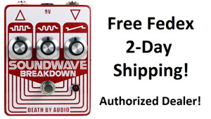 New Death By Audio Soundwave Breakdown Fuzz Octo Generator Guitar Effects Pedal