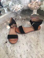 Black Leather Gladiator Sandals Brazil Arezzo Bra 37 6