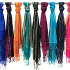 3-pack: Amtal Multicolored Striped Fashion Scarves- Assorted Colors
