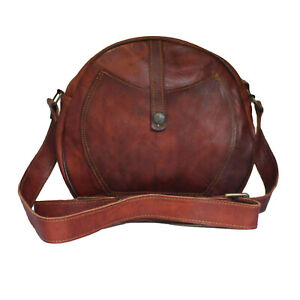 Crossbody Purse Soft Leather Hobo Women Semi Circle Zipper Brown Shoulder Bag