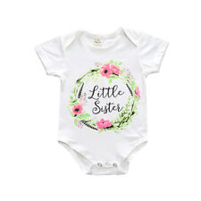 Kids Baby Girls Cute Tops Big Little Sister Romper Jumpsuit T-shirt Outfits Tops