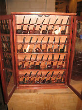 Pipe Rack Display Cabinet Stand smokers case,Churchwarden 32 Pipes,Item 400