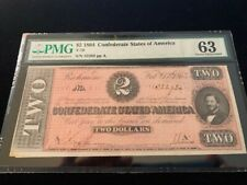 US Confederate Currency-Certified-PMG $2 1864 (CH-63) (T-70)