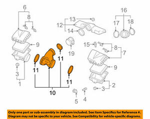 Cadillac XLR 2004-09 4.6L-V8 Air Cleaner Outlet Duct 10318558 New Genuine GM