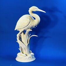 New ListingTall 15� Fitz & Floyd Crane Heron Egret Figurine Glazed Porcelain