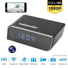 1080P HD  Camera Clock WiFi Wireless Night Vision Nanny Cam