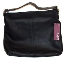 Kooba Hobo Black Leather Womens Large Handbag Tote Purse GK0836/08