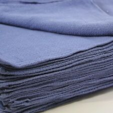 100 Blue Surgical Huck Cleaning Towels-100% cotton, Machine Washable,reusable