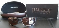 New Womens Serengeti 6752 Cascade Sunglasses Drivers Lens Black Frame w/Case