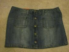 SO Jeans Skirt Size 7 Medium Wash NWT MSRP $36 Buy Now $14.99