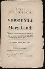 A TRUE RELATION OF VIRGINIA AND MARY-LAND  (1669)