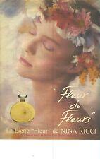 PUBLICITE ADVERTISING  1981    NINA RICCI parfum ligne FLEUR De FLEUR