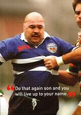 (P126) Postcard Rugby Gareth Chilcott in 1993