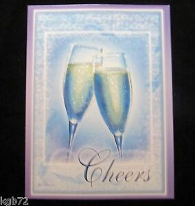 Leanin Tree Wedding Marriage Cheers Love Greeting Card Multi Color R165