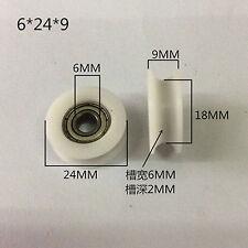 8*40*10mm Blanc Pom Coated Pneu Roue Arc Roulement à billes pour meubles Poulie 4Pcs