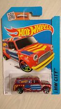 Hotwheels 2013 HW City '67 Austin Mini Van red