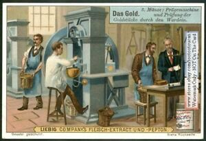 Assaying And Weighing Gold Oro c1900 Trade Ad Card