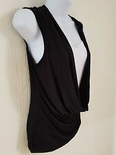 Womens Ladies Summer Loose Sleeveless double Layer Top Size S/M