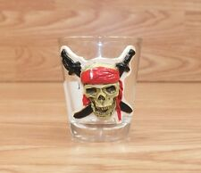 Genuine Walt Disney Pirates of the Caribbean 3D Collectible Shot Glass Only READ
