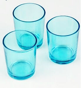 Purist Blue Clear Glass Tealight Votive Candle Holder BUY QTY RQd Party Event
