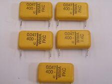 5 Pcs 0.047uF = 47nF 400v Wima EX26 Capacitores de poliéster