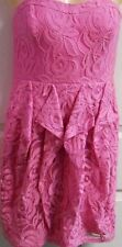 NEW Jessica Simpson Ruffled Lace Special Occasion Dress Pink Womens 4 MSRP $128