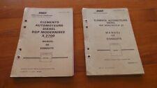 RARE - SNCF - 2 MANUELS DE CONDUITE AUTOMOTEURS RGP MONO MOTEUR ET X 2700