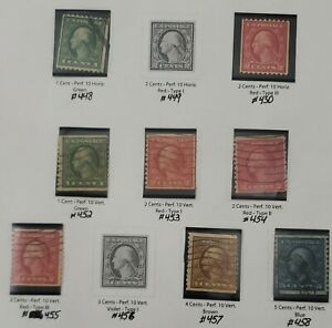 US Stamps Washington coils L6 used