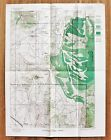 1894 Black Hills Wyoming Map South Dakota Topographical Timber Lands ORIGINAL