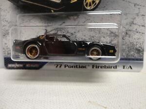 Hot Wheels '77 PONTIAC FIREBIRD Black 1977 w/RR Real Rubber Tires FAST & FURIOUS