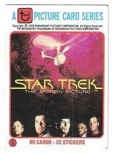 1979 Star Trek The Motion Picture Complete set (88 cards) No stickers