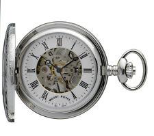 Mount Royal Chrome Plated Half Hunter Pocket Watch, Mechanical ref B26
