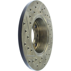 Disc Brake Rotor-Sport Cross-Drilled and Slotted Front/Rear-Left Stoptech